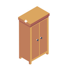 Wooden closet vector