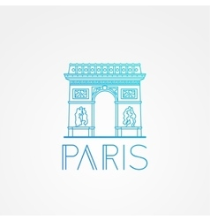 World famous Arc de Triomphe vector image