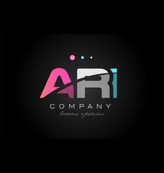 ari a r i three letter logo icon design vector image vector image