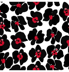Black Orchid seamless pattern vector image vector image
