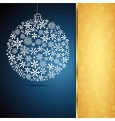 Christmas gift ball snowflake design background vector image vector image