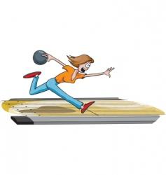 female bowler vector image