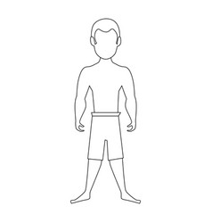 isolated cute standing man vector image