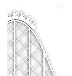 rollercoaster cutout vector image vector image