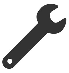 spanner flat icon vector image vector image
