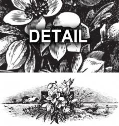 antique landscape engraving vector image vector image