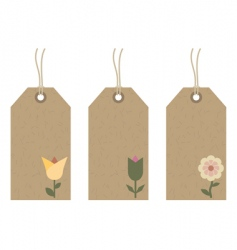 flower tags vector image vector image