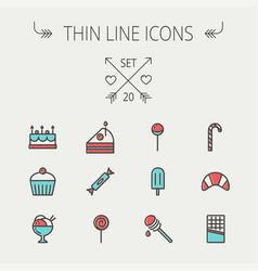 food thin line icon vector image