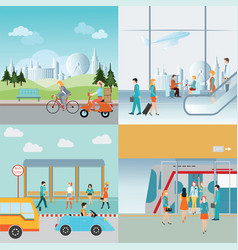 info graphic of transportation vector image vector image