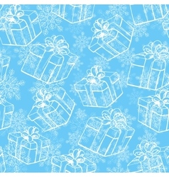 Winter holidays gifts vector image vector image