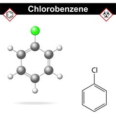 Chlorobenzene molecule vector image vector image