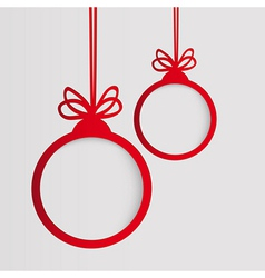 Christmas ball in the form of an empty frame for vector image vector image