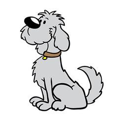 dog cartoon vector image