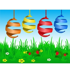 Easter card with stylized eggs vector image vector image