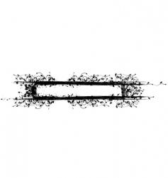 inked frame vector image