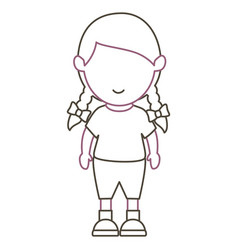 little girl avatar character vector image
