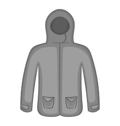 Mens winter jacket icon black monochrome style vector image vector image