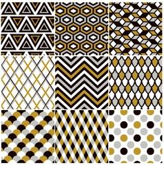 Seamless gold geometric pattern vector
