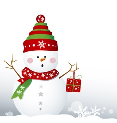 Snowman design for christmas background vector image vector image