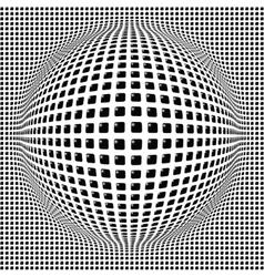 Sphere digital background vector image