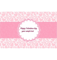 Template frame design for valentines day card vector image