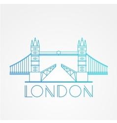World famous london bridge vector