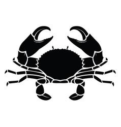 crab sea animal silhouette vector image