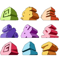 Multicolored alphabet symbols vector image