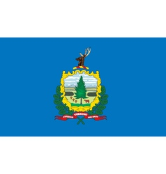 Vermont flag vector image