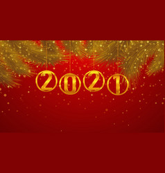 2021 new year background vector image