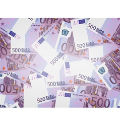 500 Euro bills background vector image