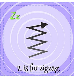 A letter Z for zigzag vector