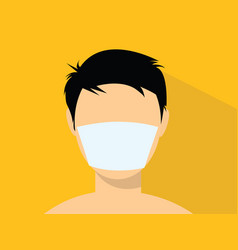 a man using a masker with flat style vector image