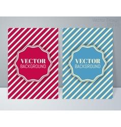 a retro banner vector image