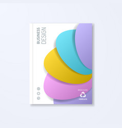 Abstract brochure design template vector