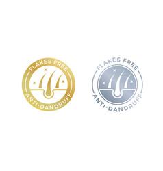 Anti-dandruff flakes free logo icon for shampoo vector