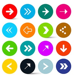 Arrows Set in Colorful Circles Perfect for Web vector image