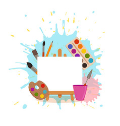 Art studio design interior colorful vector