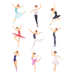 ballet boys and girls ballet dancers male and vector image