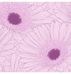 Beautiful background with gerbera flower vector