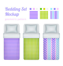 bed linen patterns collection vector image