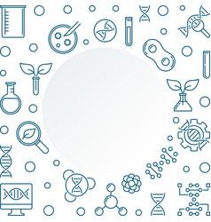 Biotechnolgy outline frame biotech vector