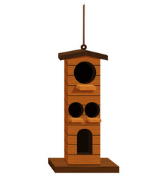 bird house design for many birds vector image vector image