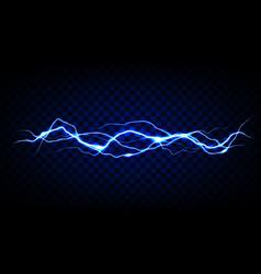 blue lightning on transparent background vector image
