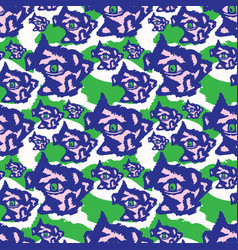 Blue purple and green rough abstract dark eye vector