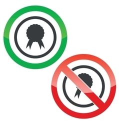 Certificate seal permission signs vector