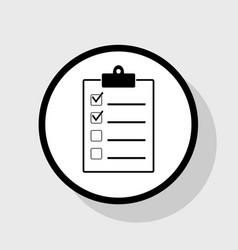 checklist sign flat black vector image