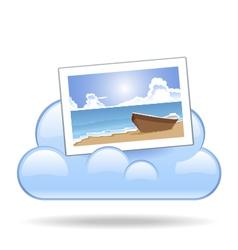 Cloud photo vector
