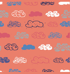 cloud seamless repeat pattern design vector image