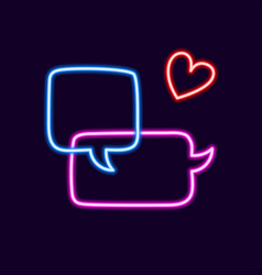 collection colorful neon speech bubbles vector image